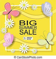 Summer Big Sale Banner Template Background.