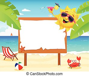 Summer Billboard - Summer Scene with billboard.