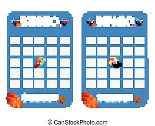 Summer blank decorated bingo cards