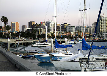 Summer Boat Dock - Small boat dock in San Diego, CA