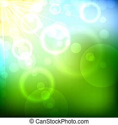 Summer bokeh vector background.
