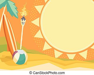 Summer Bonanza Board - Colorful Board Illustration of a...