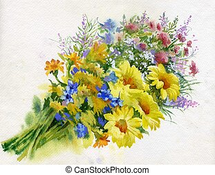 Summer bouquet of flowers