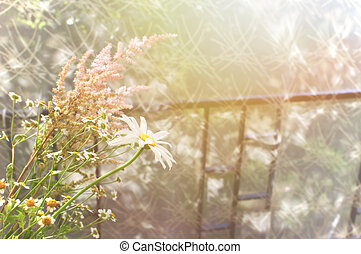 summer bouquet on the veranda