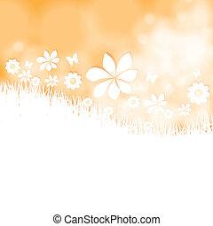 Summer bright flower background