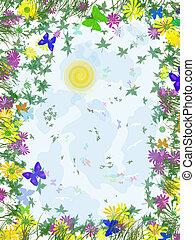 Summer Butterfly Fantasy background