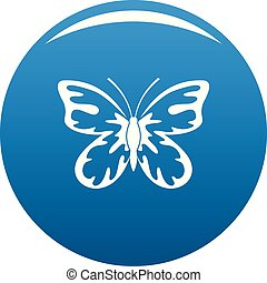 Summer butterfly icon blue vector