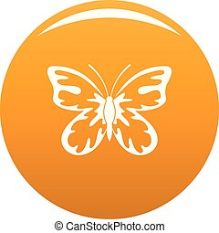 Summer butterfly icon vector orange