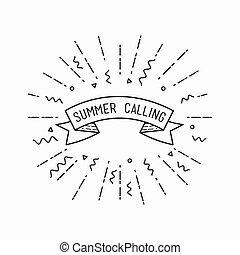 Summer calling. Inspirational vector illustration