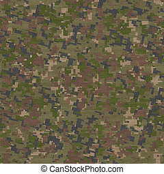 Summer Camouflage Pattern. Seamless Texture.