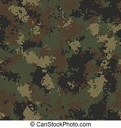 Summer Camouflage. Seamless Tileable Texture.