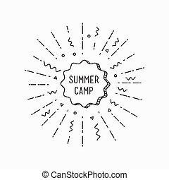 Summer camp. Inspirational vector illustration