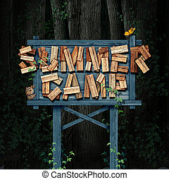 Summer Camp Nature Sign