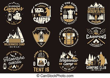 Summer camp. Vector. Concept for shirt or patch, print,...