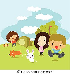 Summer camp vector illustration.2