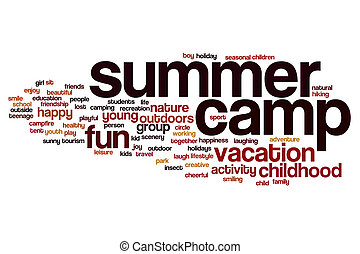 Summer camp word cloud concept