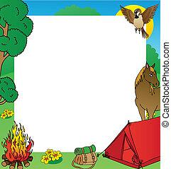 Summer camping frame