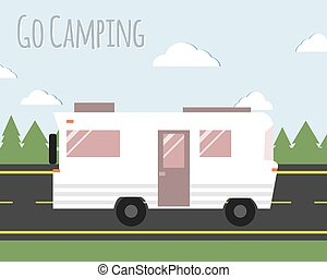 Summer Camping Illustration