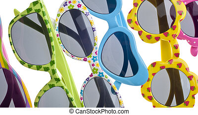 Summer Child Size Sunglasses Isolated on White with a ...