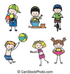 summer children set