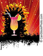 Summer City Party Orange Sun - Flyer design for cocktail...
