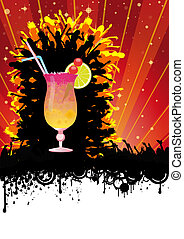 Summer City Party Orange Sun