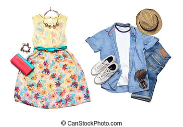Summer clothes look.