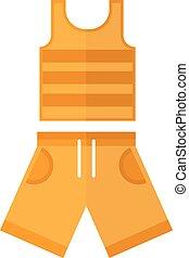 Summer clothes vector illustration. - Shorts and shirt, boys...