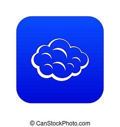 Summer cloud icon digital blue