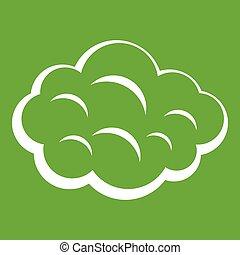 Summer cloud icon green