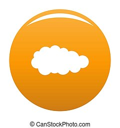 Summer cloud icon orange
