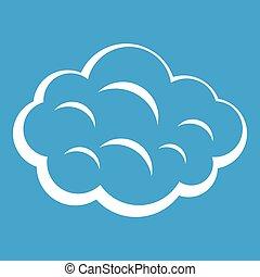 Summer cloud icon white
