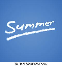 Summer Cloudy Text