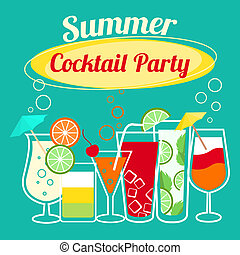 Summer cocktails party template - Summer cocktails party...