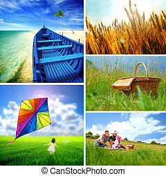Summer collage - Collection of summer images