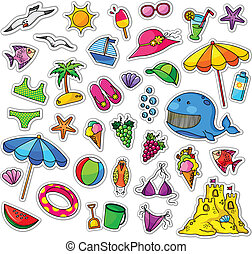 summer collection - big collection of summer icons