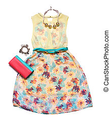 Summer collection of clothes for women.