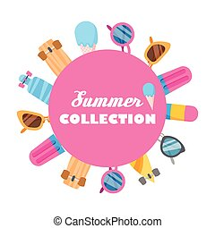 Summer collection of objects