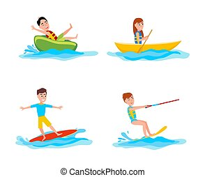 Summer Collection of Sports Vector Illustration