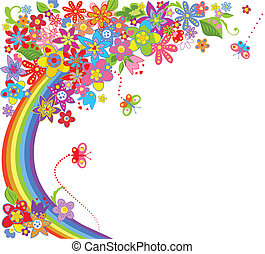 Summer colorful background