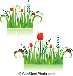 Summer colorful meadow background