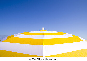 Summer Colors - an umbrella at the sun in a summer day