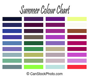 Summer Colour Chart - Makeup and clothes colour chart for ...