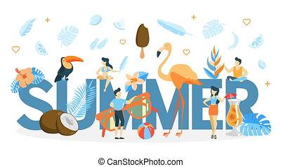 Summer concept animation.