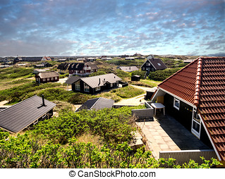 Summer cottage holiday homes at the west coast in Denmark -...