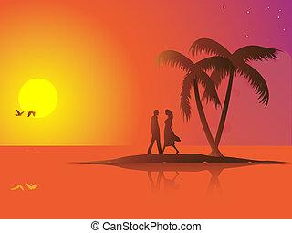Summer couple