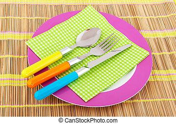 Summer crockery - Summer service forks spoons and knifes