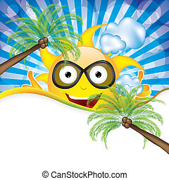 Summer day background vector