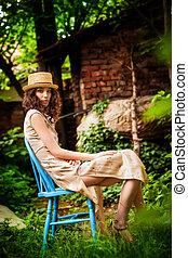 summer day in garden
