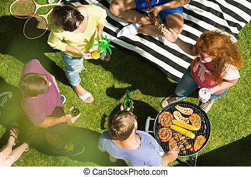 Summer day in the garden